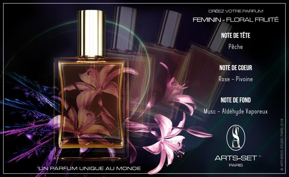 Créez votre parfum Féminin Floral Fruité ARTS-SET